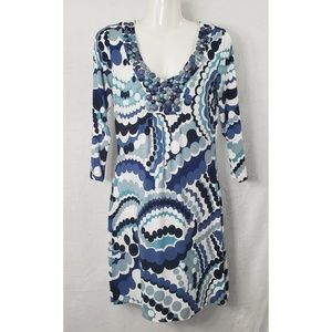 Boden Jeweled Neckline Dress